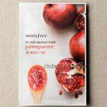 Маска для лица с гранатовым соком / Innisfree It's real squeeze mask-pomegranate 1sheet 20ml